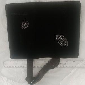 Black suede leather ETRO tote bag beaded design